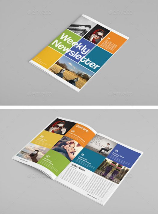 48. Modern Colorful Newsletter