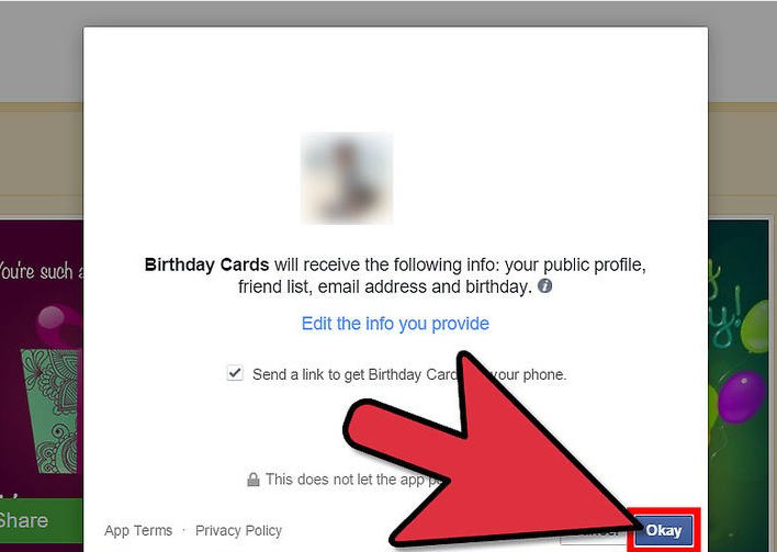 Allow The App To Access Your Profile Birthday Card Maker Will Ask For Permission Basic Information Such As Name