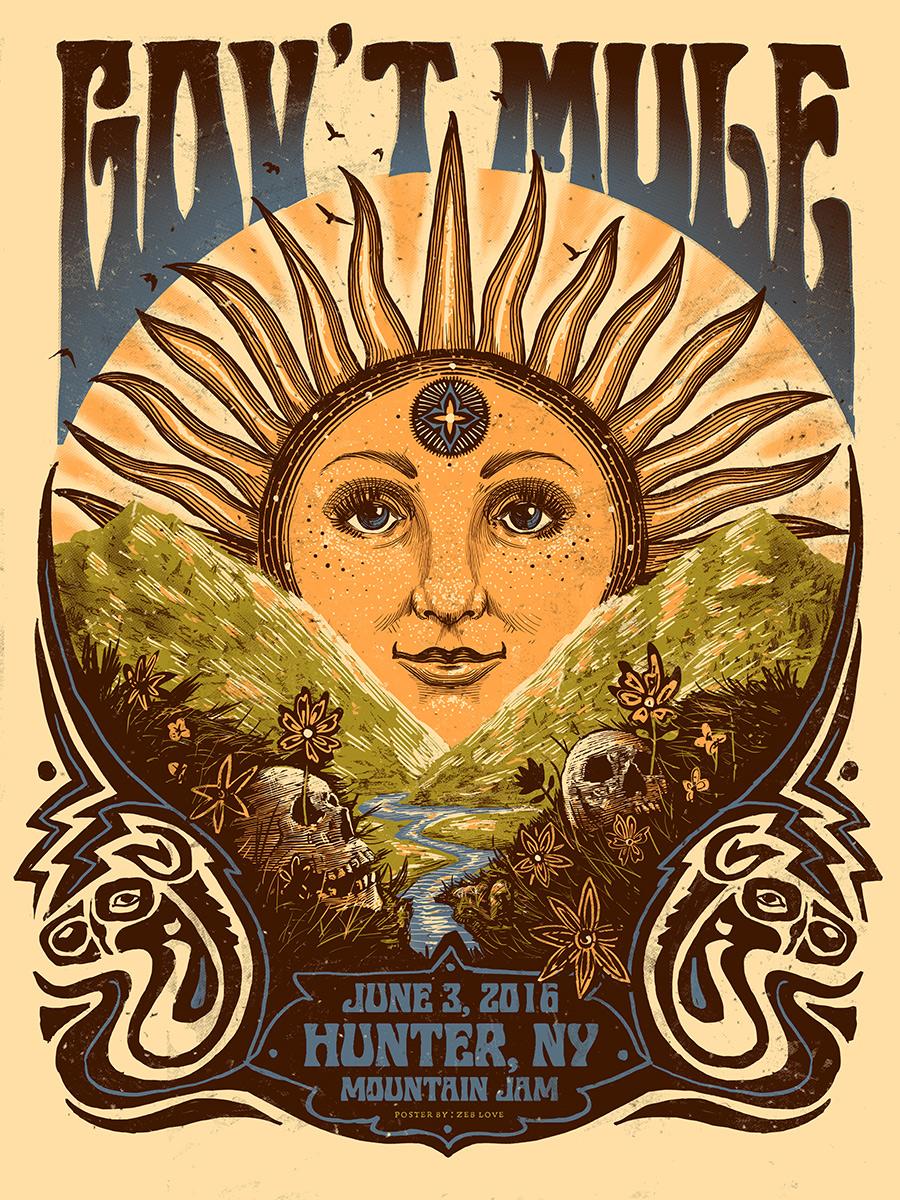 INSIDE THE ROCK POSTER FRAME BLOG: Zeb Love Gov\'t Mule Mountain Jam ...