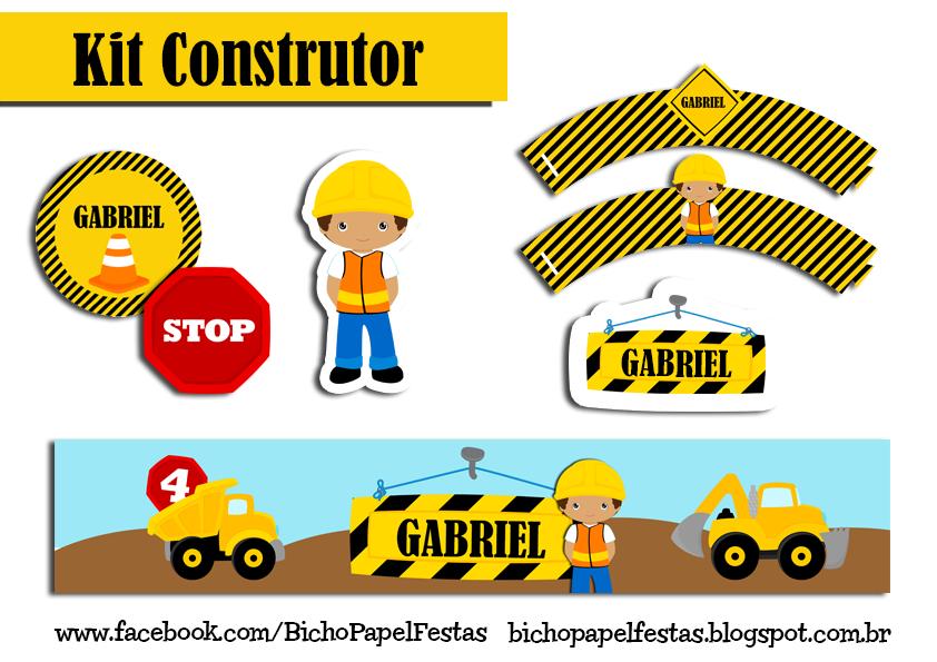 Kit Festa Construtor construção