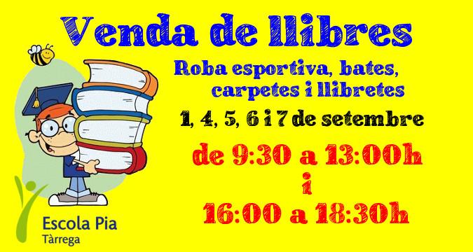 a1fc5536b9cb Escola Pia Tàrrega: Venda de llibres i material 2017-2018