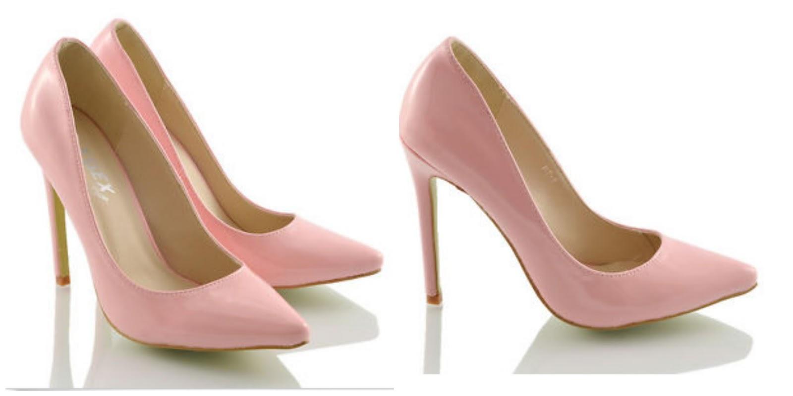 9748c545c63c Ladies Pointed Heels in Pastel Pink Patent - £14.99   £2.99 PnP