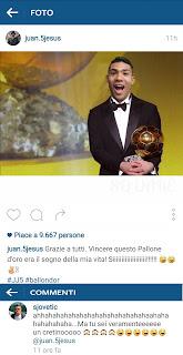 Il Pallone d'Oro di Juan Jesus
