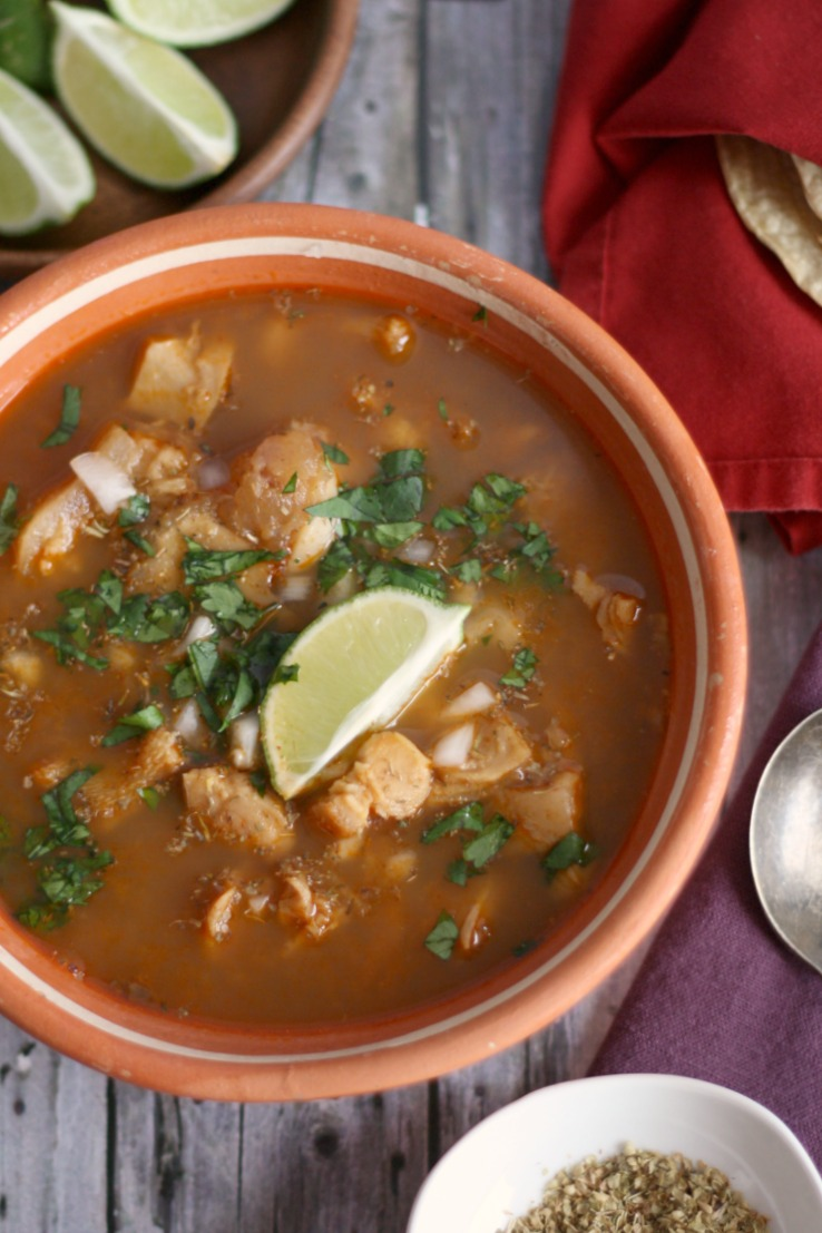 Menudo (Red Chile Tripe Soup) | #SoupSwappers