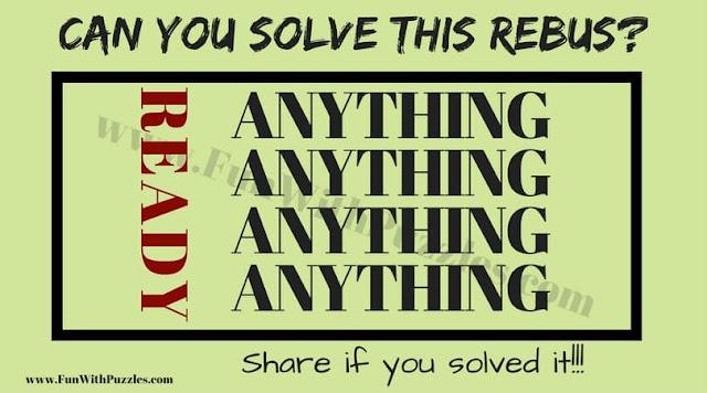 Rebus Brain Teaser Question