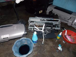 EPSON R230 Blink Cepat Indikator Tinta dan  Kertas