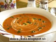 Krémová paradajkovo-tekvicová polievka - recept