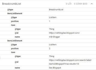 Hướng dẫn thêm dữ liệu cấu trúc Breadcrumb cho trang tìm kiếm Label