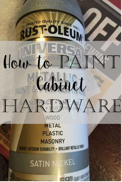 our hopeful home how to spray paint cabinet hardware like a pro. Black Bedroom Furniture Sets. Home Design Ideas