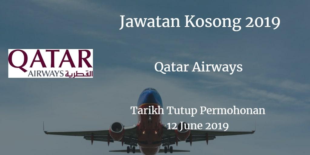 Jawatan Kosong Qatar Airways 12 June 2019