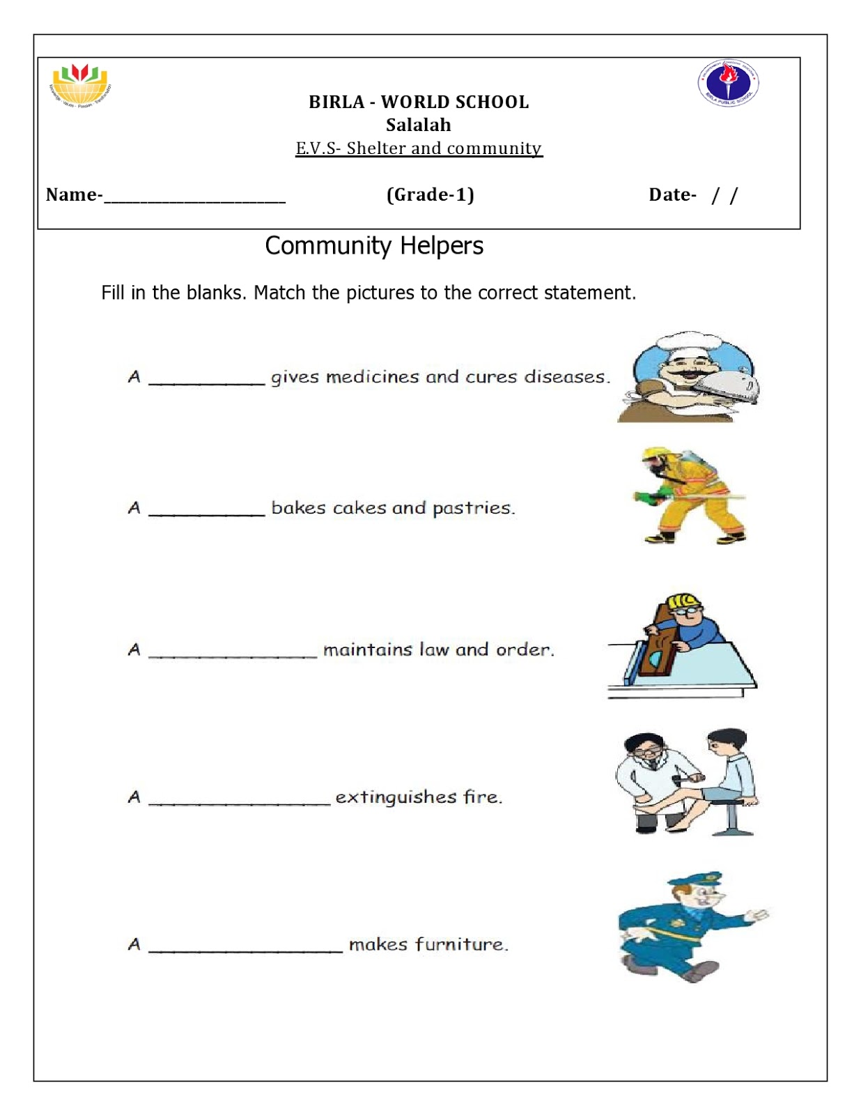 Worksheet For Class 4 English Kvs
