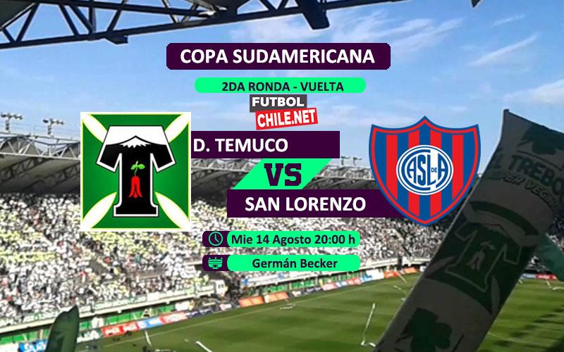 Deportes Temuco vs San Lorenzo en vivo y online por el partido vuelta de la 2da Ronda de la Copa Sudamericana
