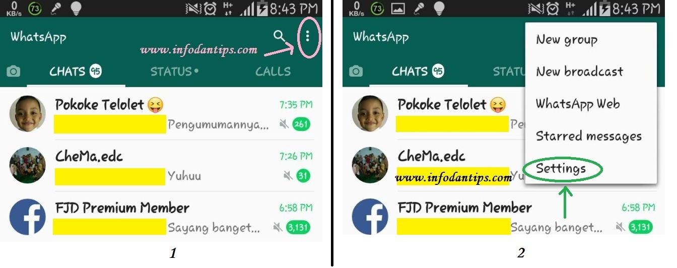 cara agar whatsapp tidak kelihatan online