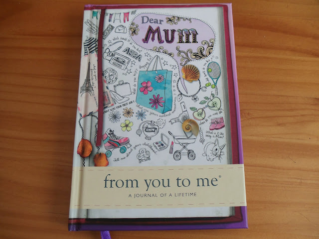 front cover of a Dear Mum from you to me journalisms