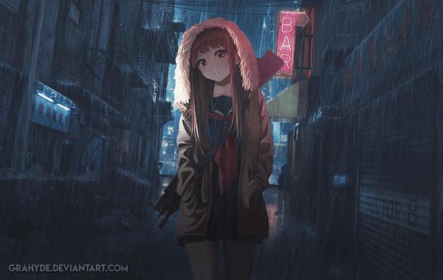 Cyberpunk - Anime Girl Wallpaper