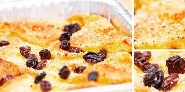 Bikin Pudding Roti Kismis Panggang Yuk! Ini dia Resepnya