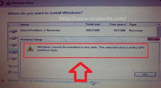 Atasi GPT Partition Style Saat Install OS Windows