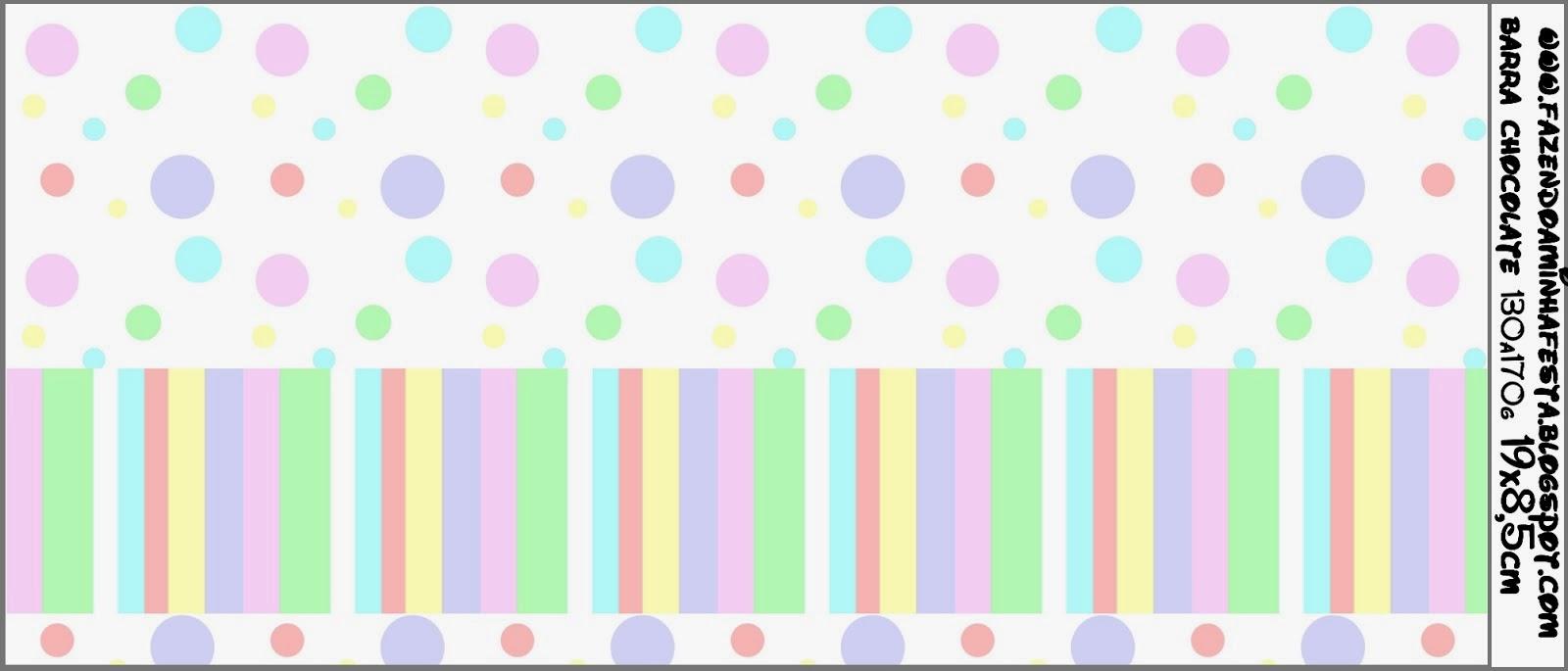 Lunares De Colores Pastel: Etiquetas Para Imprimir Gratis