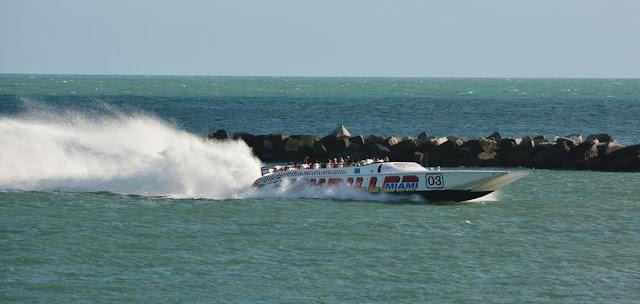 South Pointe Park Pier speed boat