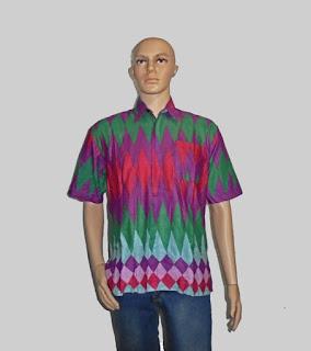 Baju Batik Pria, Hem Batik Rangrang [H880] Ungu