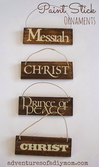DIY Paint Stick Ornaments