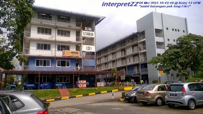 Singgah di Kolej ke-13 Universiti Putra Malaysia