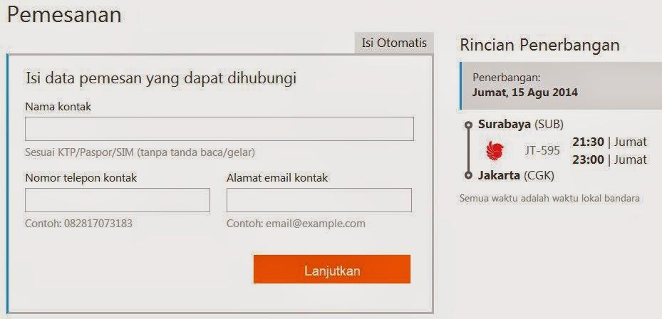 Cara Pesan Tiket Pesawat Online 4