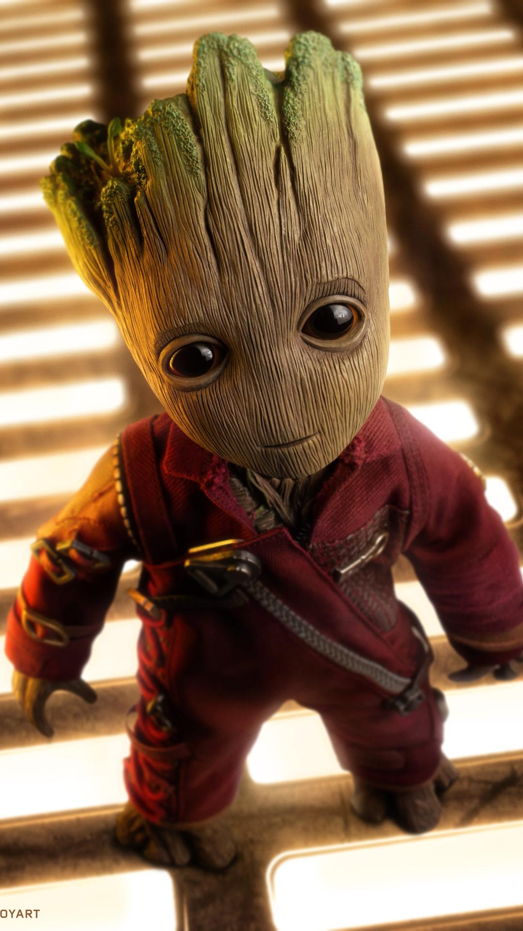 4k Baby Groot