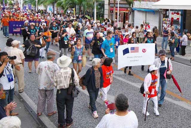 Alaska members in parade