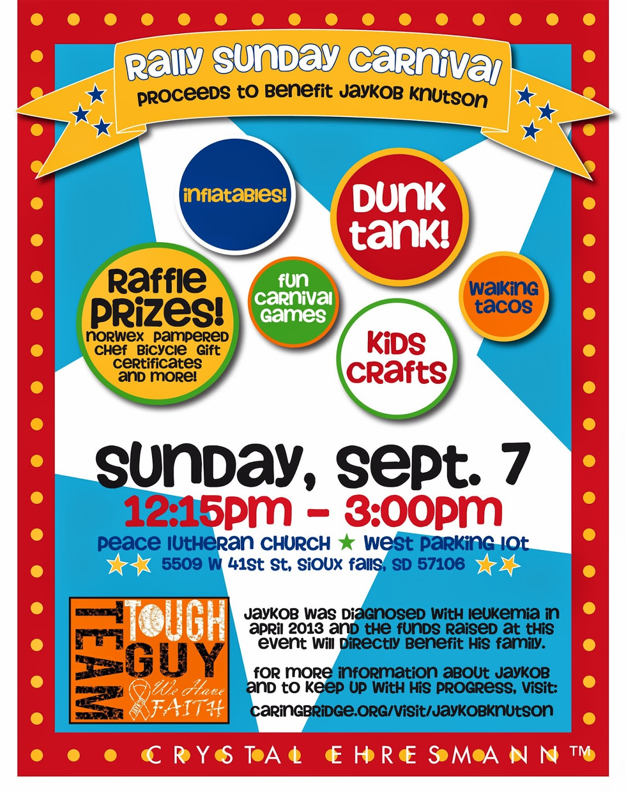 ce graphic design recent work carnival fundraiser flyer