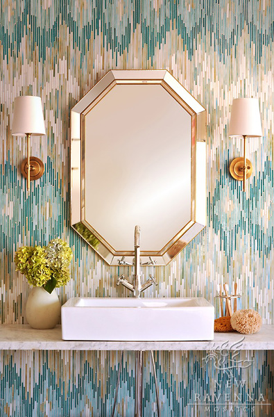 The Peak of Très Chic: Not Your Grandma's Tile + Bathroom ...