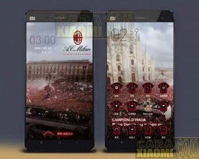 Kumpulan Tema MIUI Football AC MilanThemes Mtz For Xiaomi