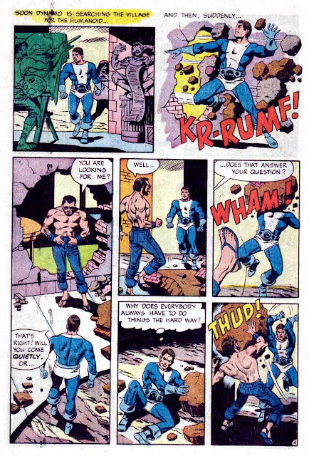 Thunder Agents v1 #14 tower silver age 1960s comic book page art by Wally Wood, Steve Ditko