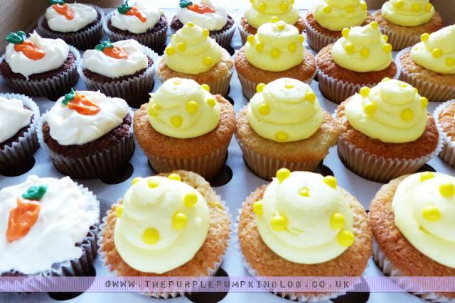 [Orange & Yellow 40th Birthday Party] Lemon Cupcakes!