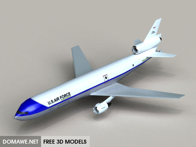 Kc 10 Airplane 3d Model Free Download
