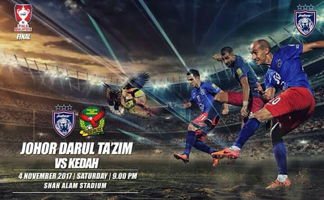 Live Streaming Kedah vs JDT Final Piala Malaysia 2017 Online