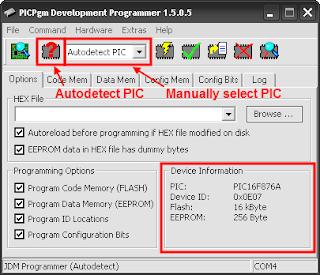 طريقة استخدام برنامج PICPgm