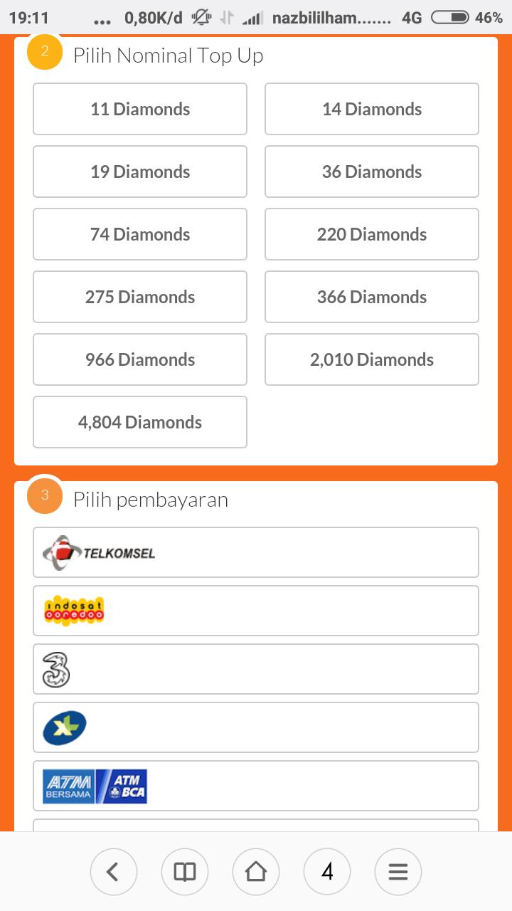 Tutorial Gamecara Top Up Mobile Legend Part1 Blog All In One Topup 220 Diamonds Okcaranya 1 Buka Linknya Di Sini 2isi User Id Kamu 3pilih Nominal Diamond