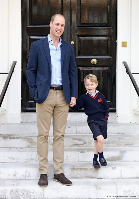 The Duke and Prince George at Kensington Palace