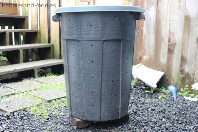 Turn a trash can into a compost bin. Great for the DIYer.