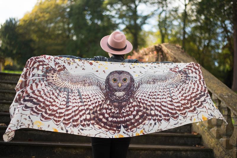 Barn Owl Print Scarf
