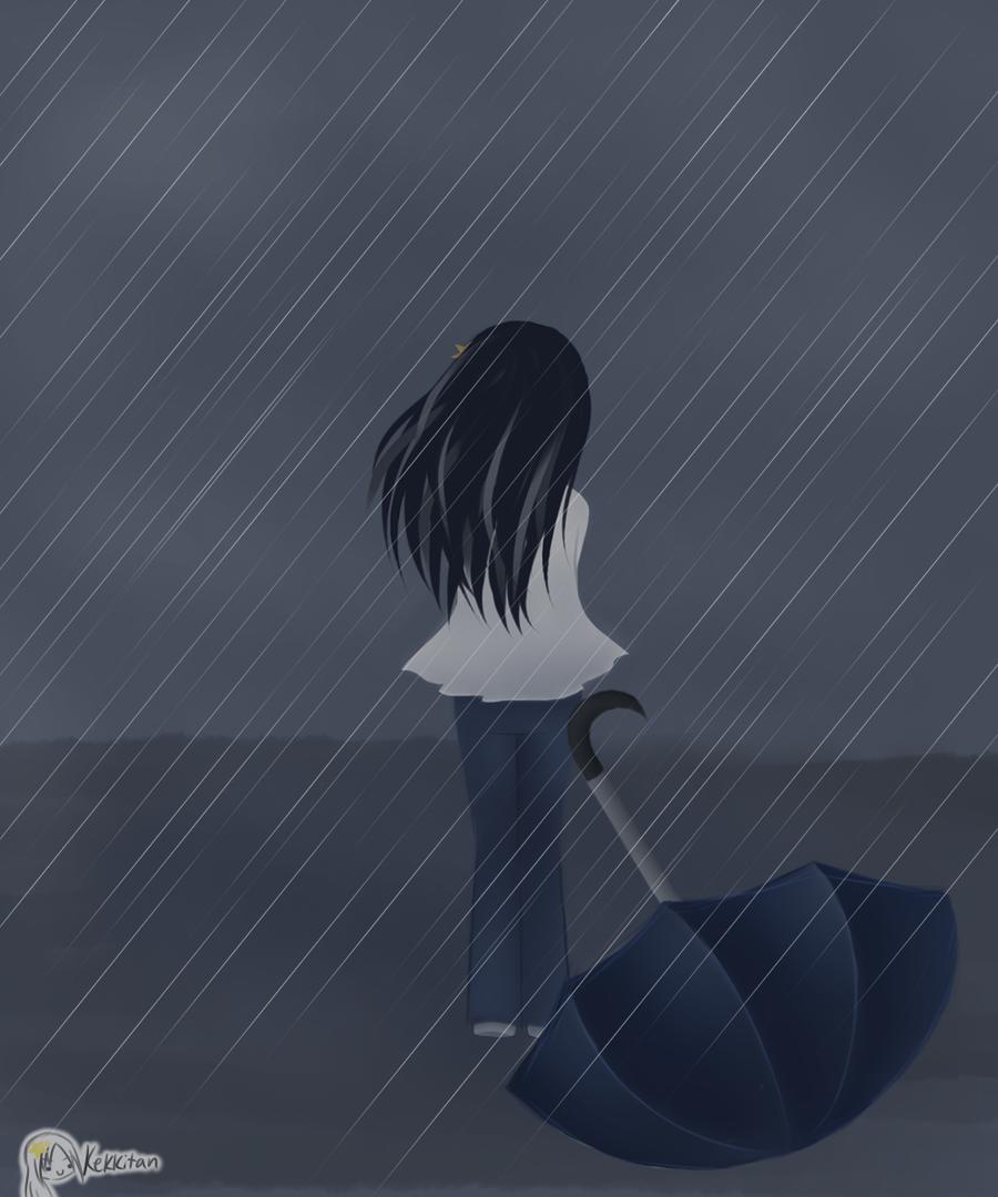 Rain Crying Girl Lonely Anime