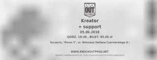 poza bilet Kreator in Szczecin