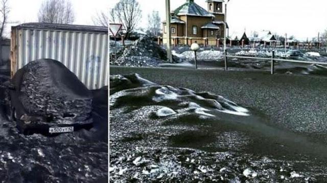 Τι ηταν το μαύρο χιόνι που έπεσε στη Σιβηρία (βίντεο)