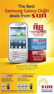 Sun Cellular Postpaid Samsung Galaxy Ch@t Plan