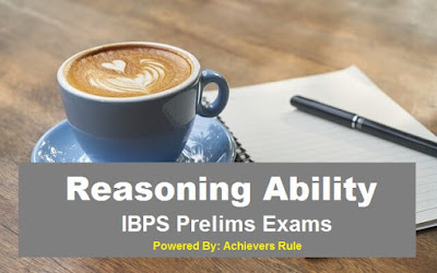 IBPS PO Clerk Reasoning Parctice Set