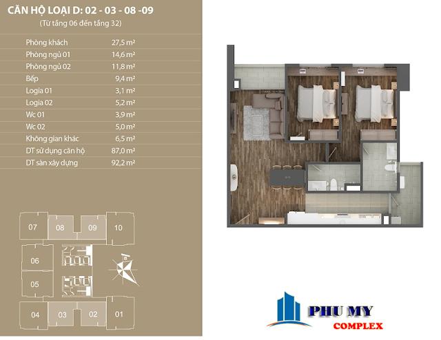 Thiết kế căn hộ 02- 03 N01 T4 Ngoại Giao Đoàn