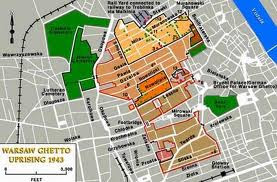 MAP OF WARSAW GHETTO UPRISING 1943