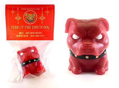 Chinese New Year Edition Year of the Dog Danger Bulldog Red Variant Resin Figure by Tenacious Toys x NEMO x Dead Hand Toys x Playful Gorilla