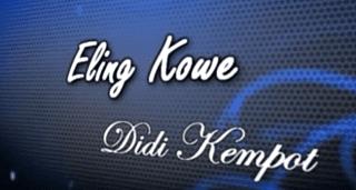 Lirik Lagu Eling Kowe - Didi Kempot